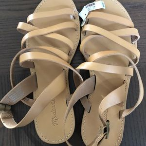 Never worn Madewell leather sandals